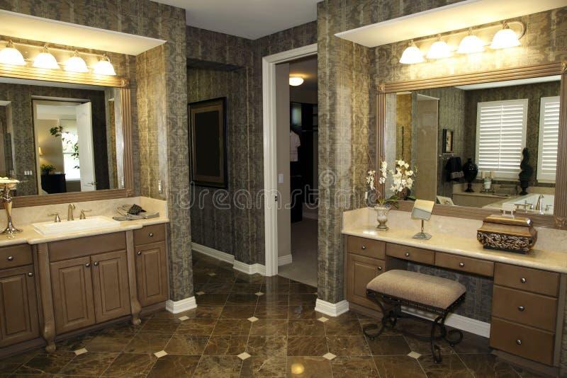 Stilvoller Badezimmerdekor stockbild