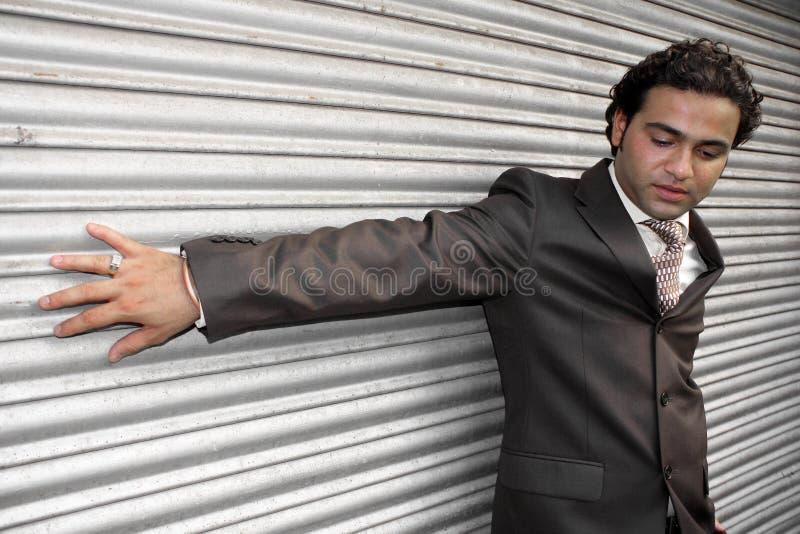 Stilvoller indischer Geschäftsmann stockbild