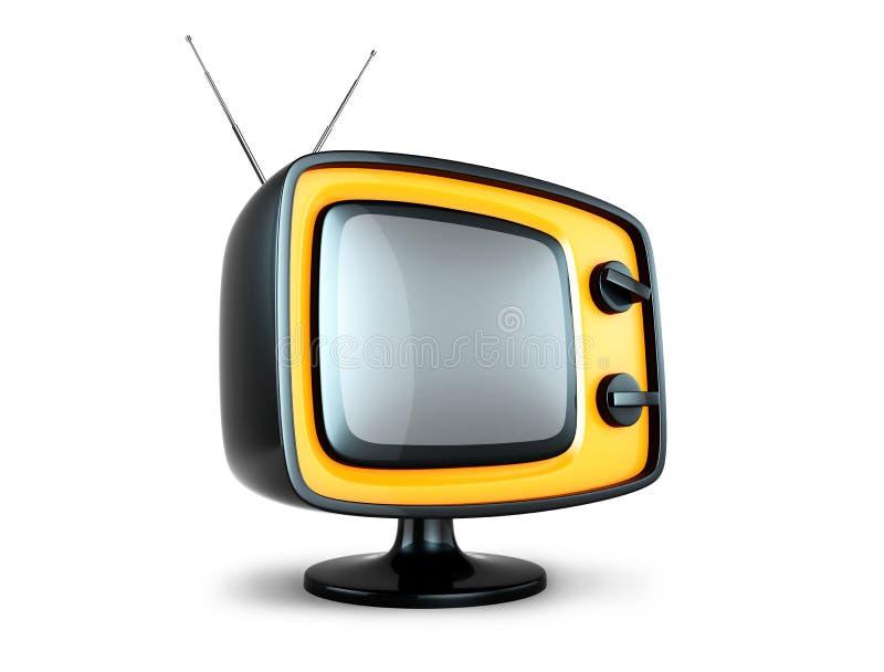 Stilvoller Retro- Fernsehapparat. lizenzfreie abbildung