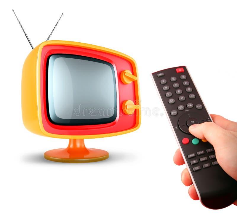 Stilvoller Retro- Fernsehapparat. stock abbildung