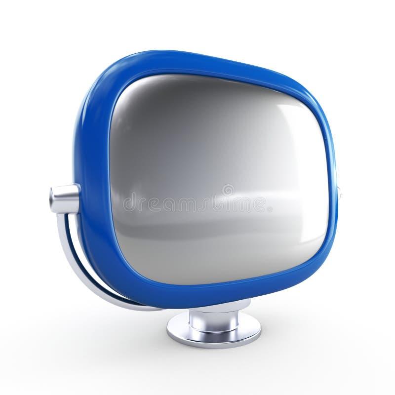 Stilvoller Retro- Fernsehapparat lizenzfreie abbildung