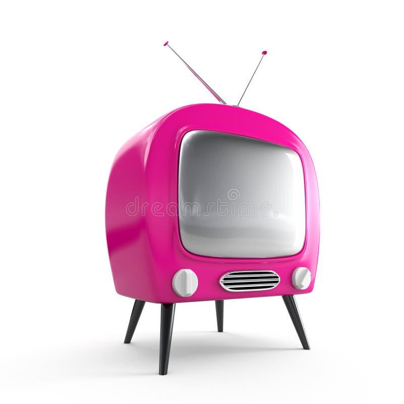 Stilvoller Retro- Fernsehapparat vektor abbildung