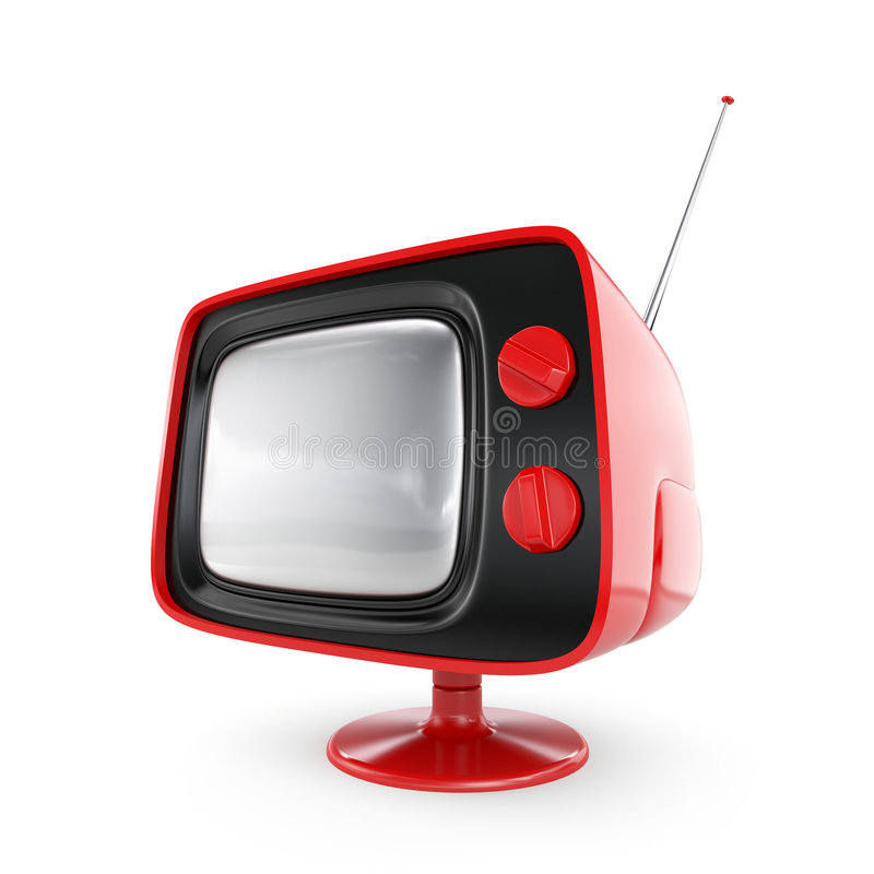 Stilvoller Retro- Fernsehapparat stock abbildung