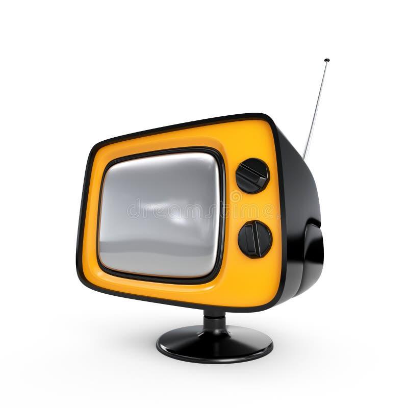Stilvoller Retro- Fernsehapparat - schwarze Ausgabe lizenzfreie abbildung