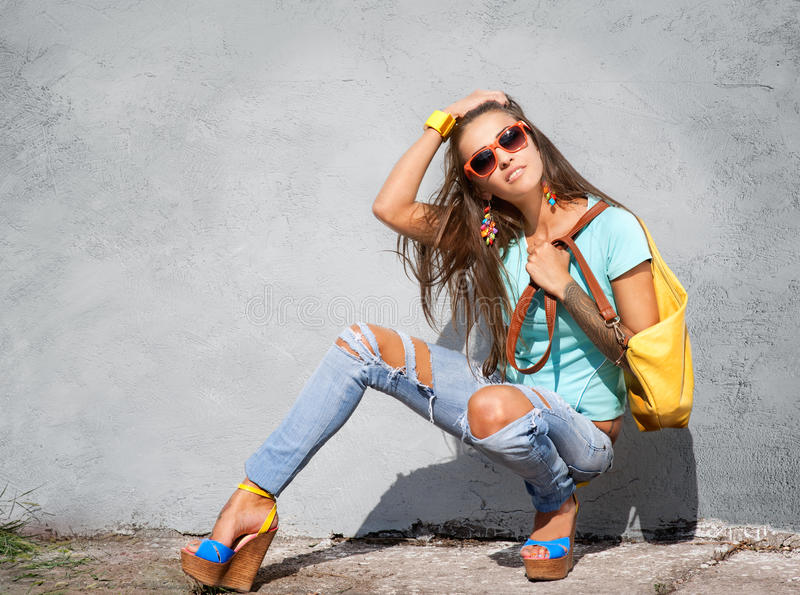 Stilvolles Mädchen stockfotografie