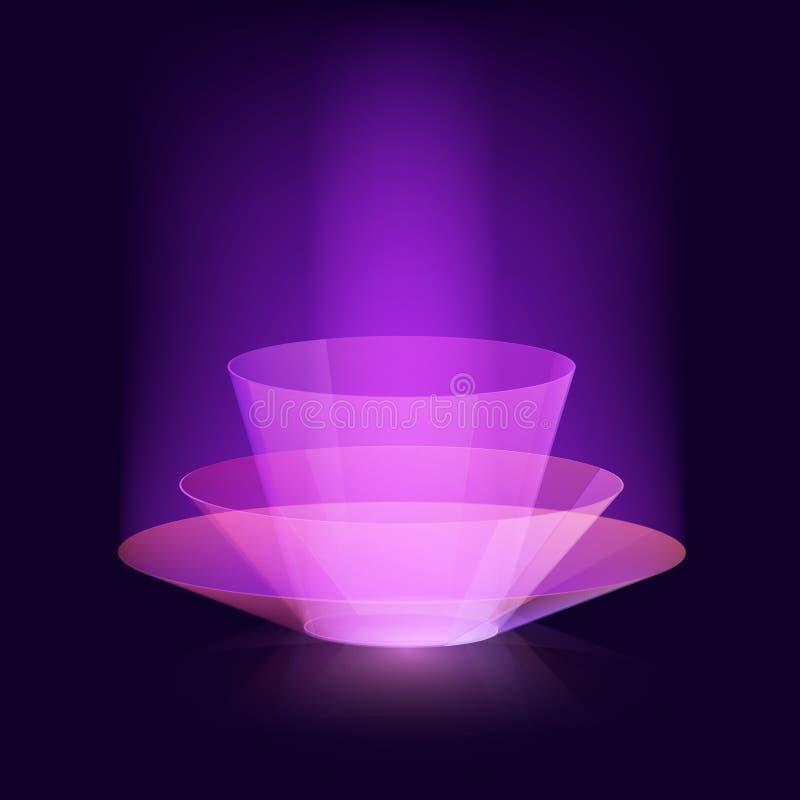 Stilvolles magisches Effektvektordesign Virtueller Schönheitsglanz-Zusammenfassungshintergrund stock abbildung