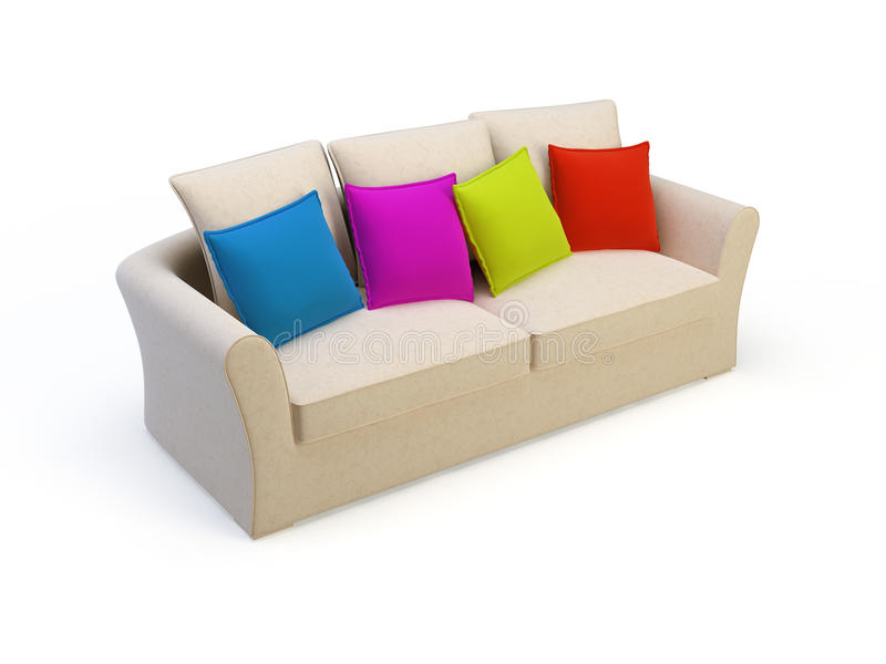 Stilvolles Sofa lizenzfreie abbildung