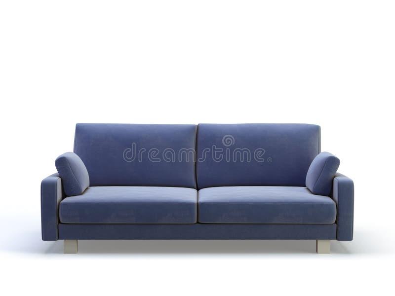 Stilvolles violettes Sofa stock abbildung
