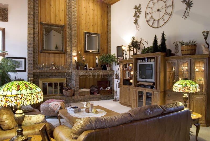 Stilvolles Wohnzimmer stockfoto