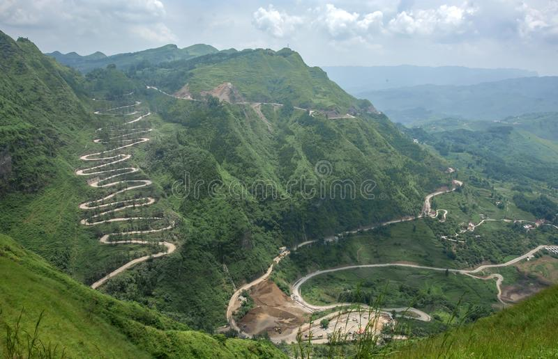 Stilwell Road In Qinglong,Guizhou. Province,China royalty free stock image