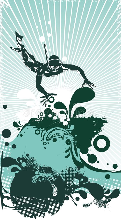 Download Stilyzed Vector Scuba Diver Stock Vector - Image: 2782850