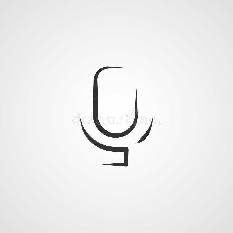 Stimme, Vorschlag, Bandikonen-Vektorbild Kann für bewegliche apps, Telefonvorsprungsstange und Einstellungen auch verwendet werde stock abbildung