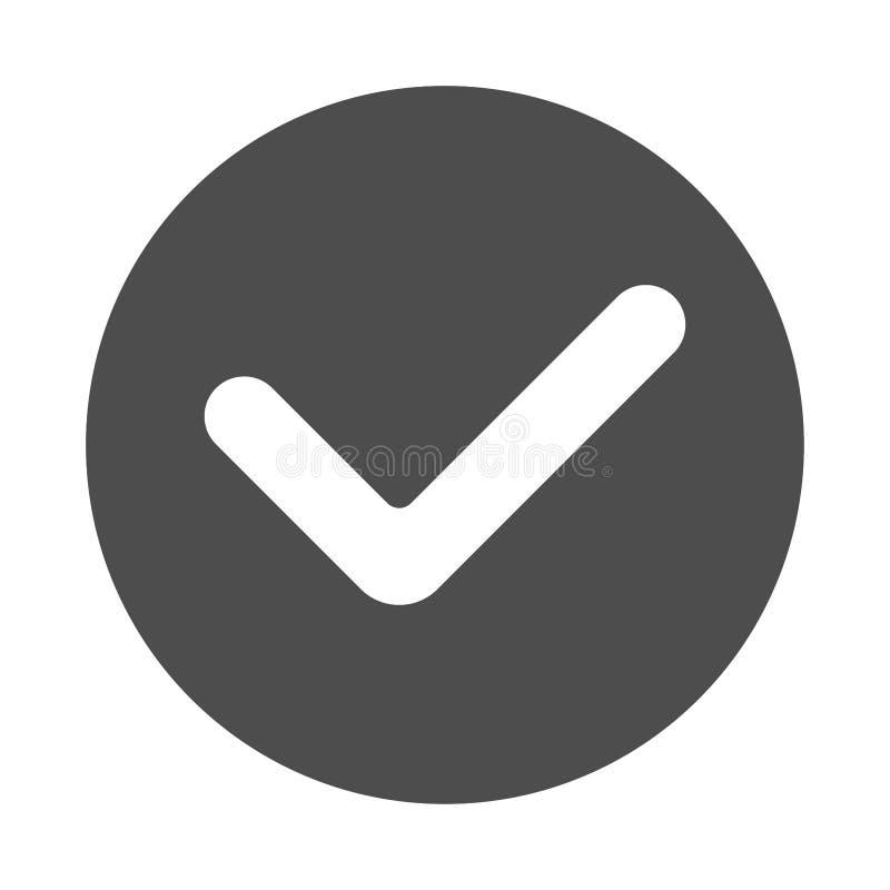 Stimmen Sie zu oder bestätigen Sie Ikone lizenzfreie abbildung