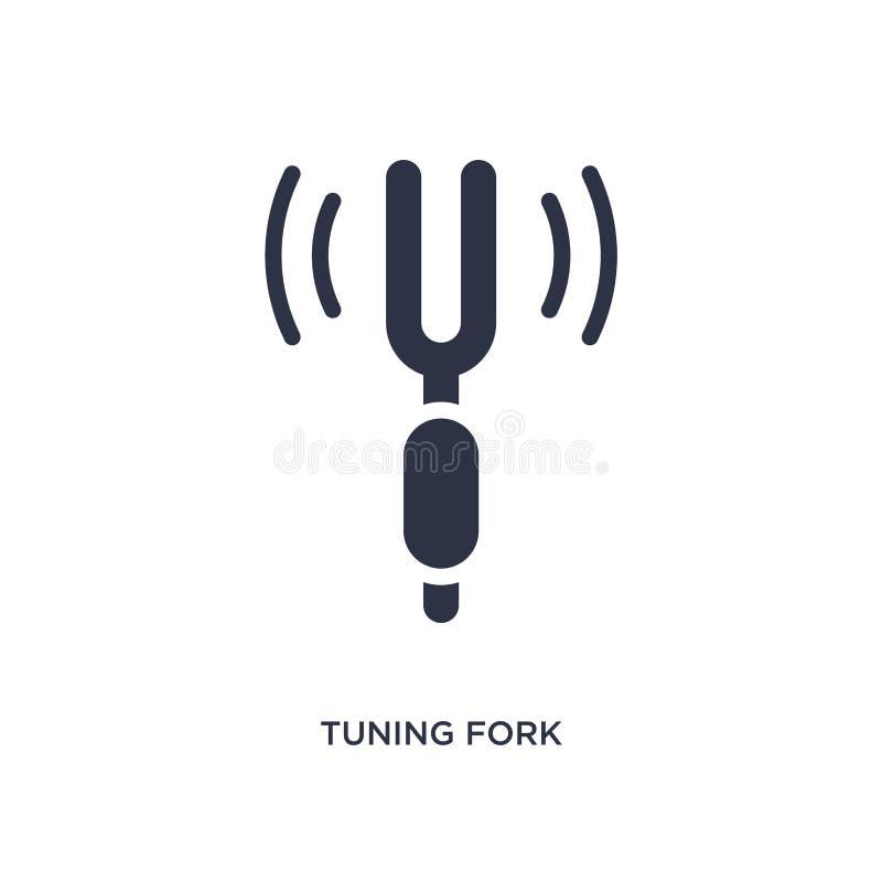 Stimmgabelikone auf weißem Hintergrund Einfache Elementillustration vom Musikkonzept vektor abbildung