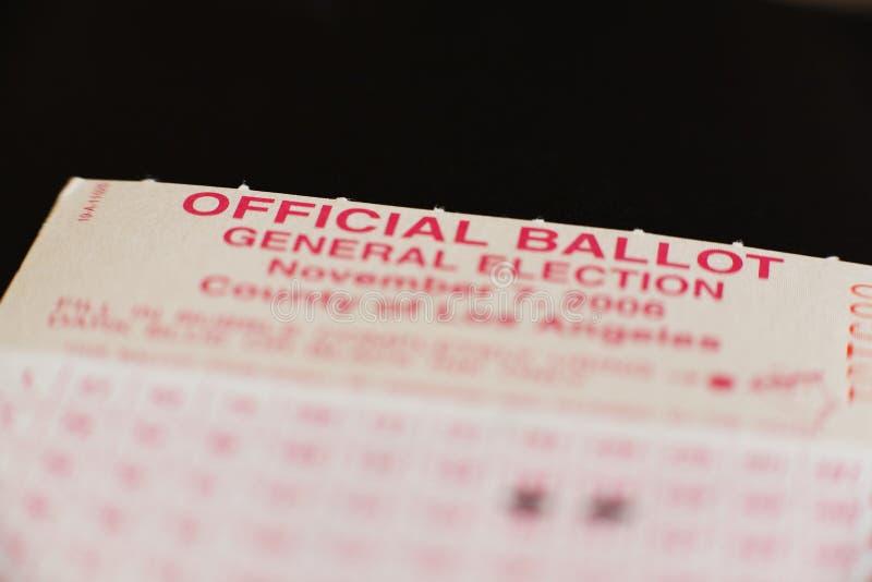 Stimmzettel 2 stockfoto