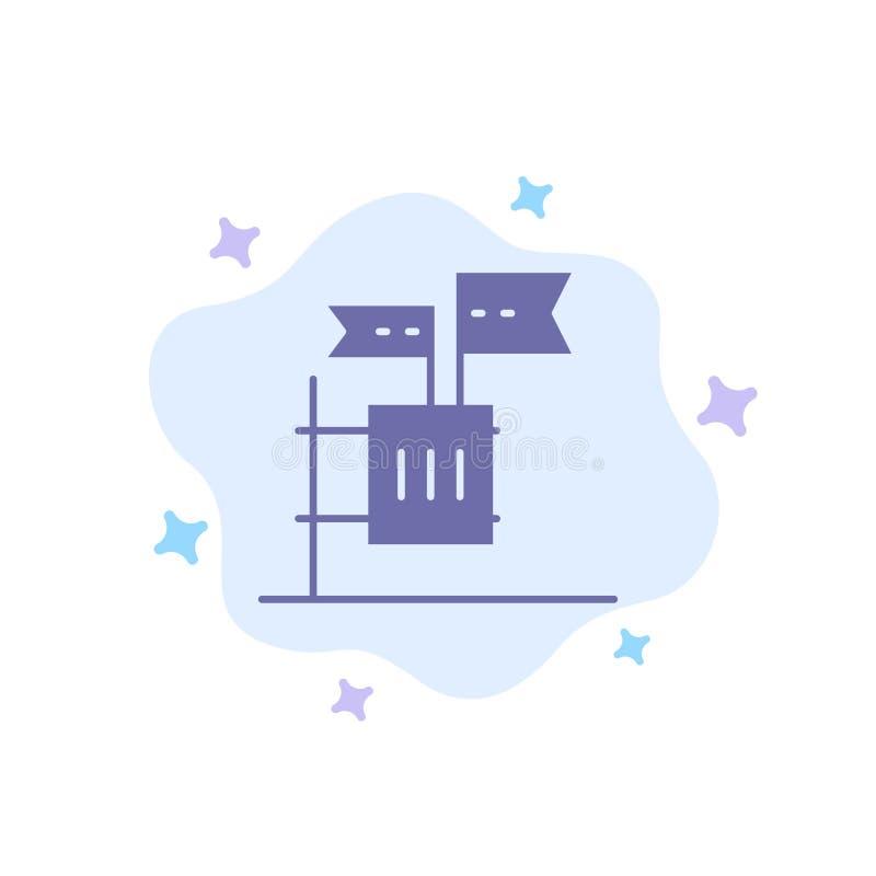 Stimmzettel, Boykott, Wahl, Abfall, Kram-blaue Ikone auf abstraktem Wolken-Hintergrund stock abbildung