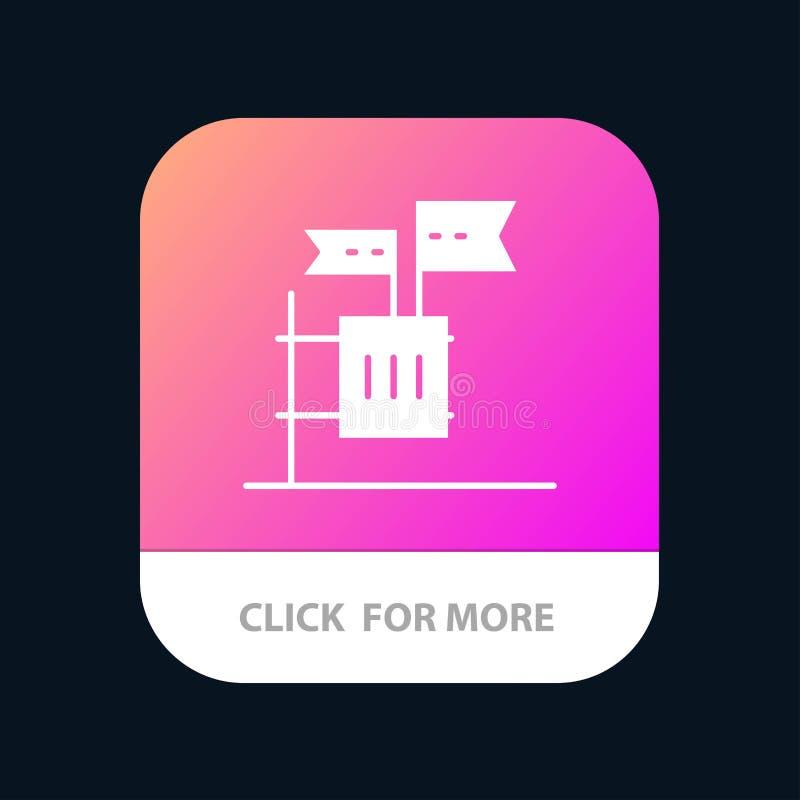 Stimmzettel, Boykott, Wahl, Abfall, Kram mobiler App-Knopf Android und IOS-Glyph-Version lizenzfreie abbildung