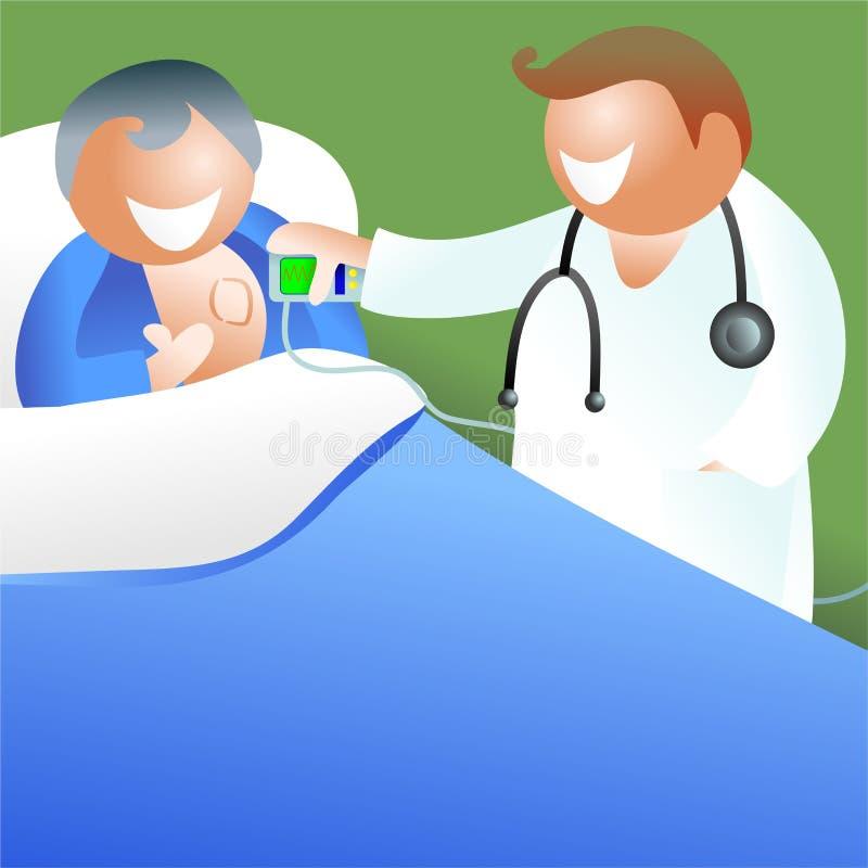 Stimolatore cardiaco illustrazione di stock