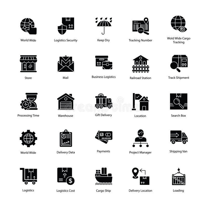 Stimulerande logistikleveranssymboler vektor illustrationer