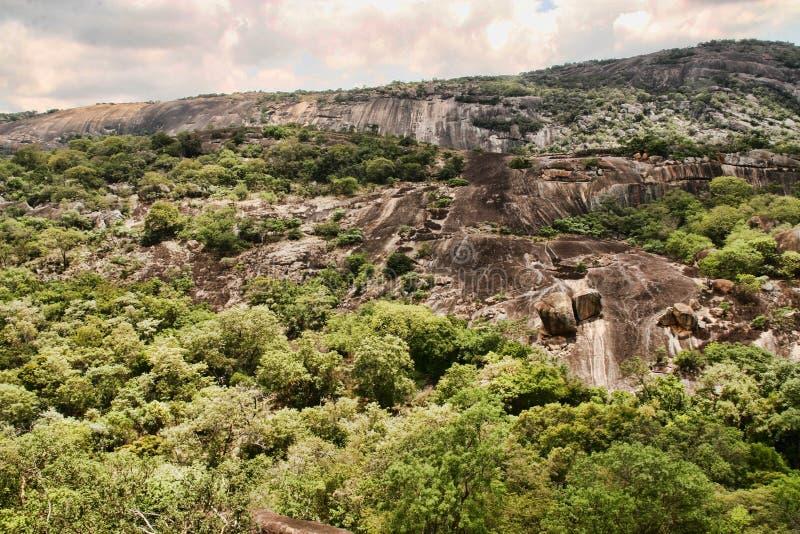 Stinging rocks of the Matopos National Park, Zimbabwe royalty free stock photography