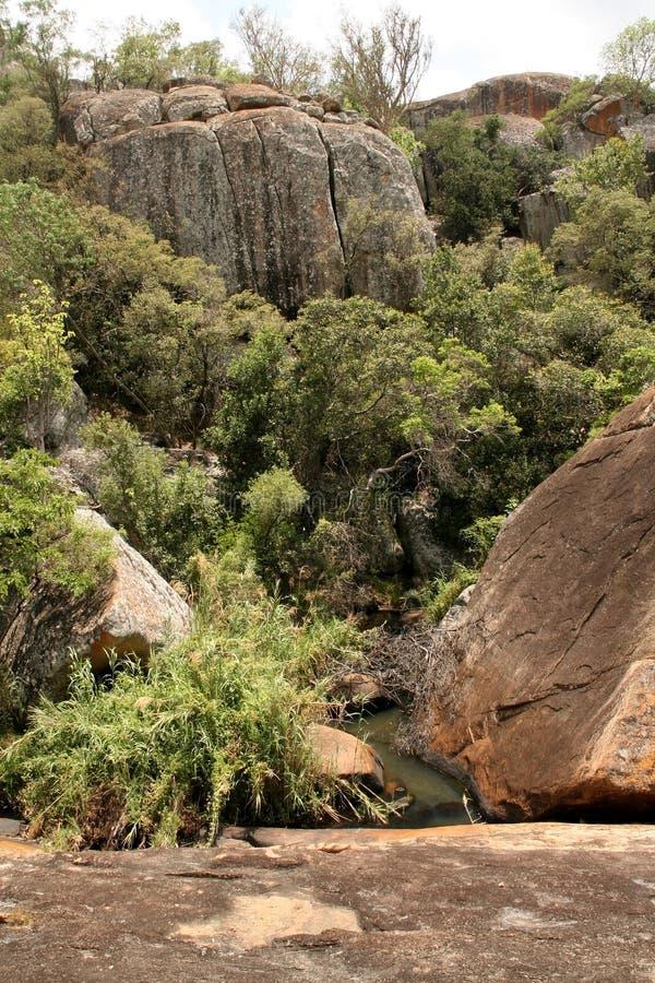 Stinging rocks of the Matopos National Park, Zimbabwe royalty free stock photo