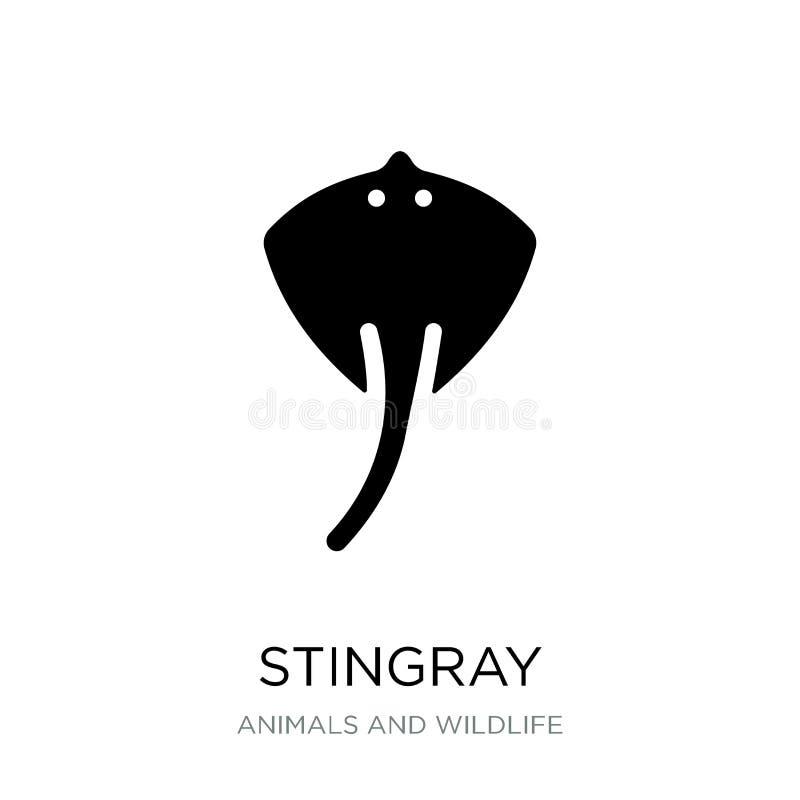 stingray εικονίδιο στο καθιερώνον τη μόδα ύφος σχεδίου stingray εικονίδιο που απομονώνεται στο άσπρο υπόβαθρο stingray διανυσματι διανυσματική απεικόνιση