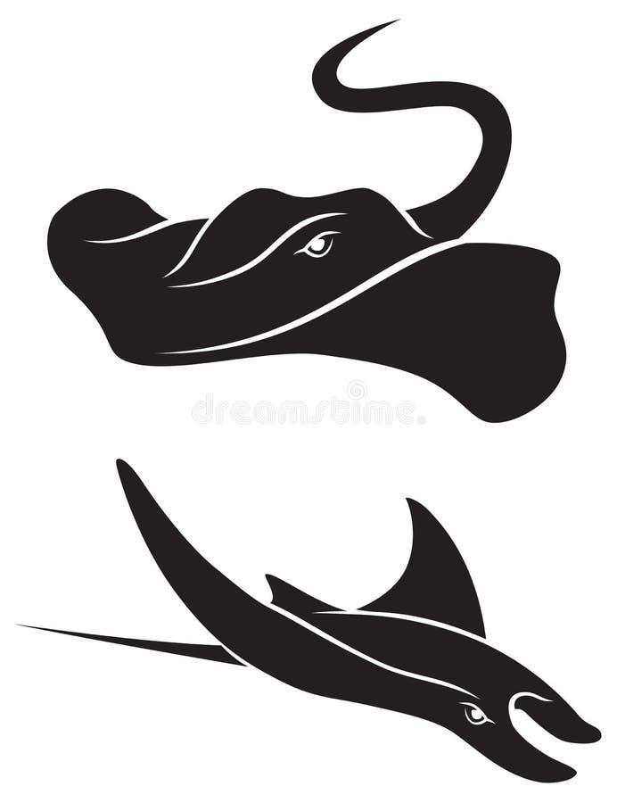 Stingray. Depicted in Figure sluety stingray royalty free illustration