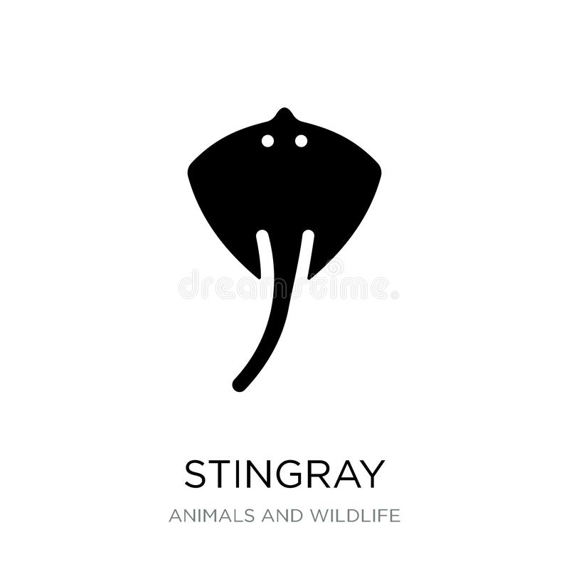 stingray icon in trendy design style. stingray icon isolated on white background. stingray vector icon simple and modern flat vector illustration