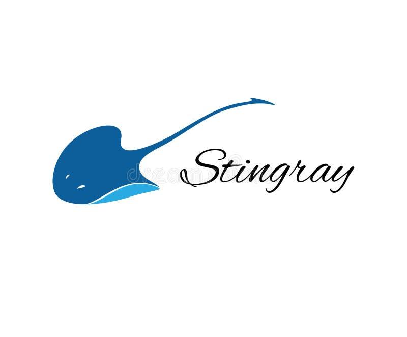 Stingray logo vector stock illustration