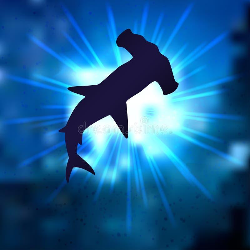 Stingrayhammerheadhaai stock afbeelding