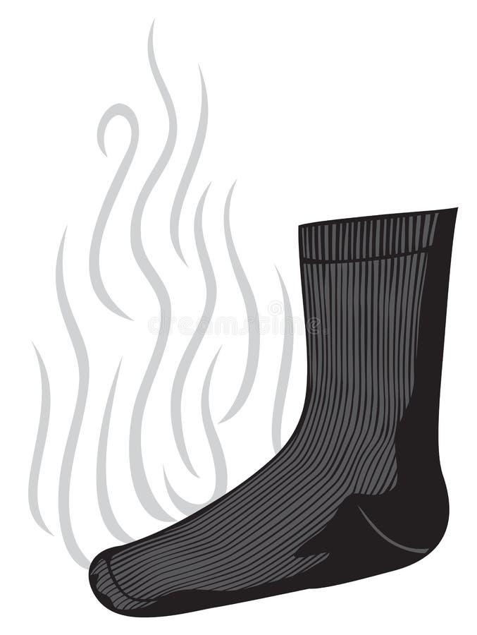 stinka socka vektor illustrationer