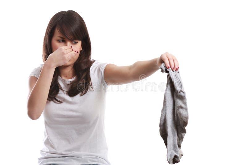 Stinkende sokken stock afbeeldingen