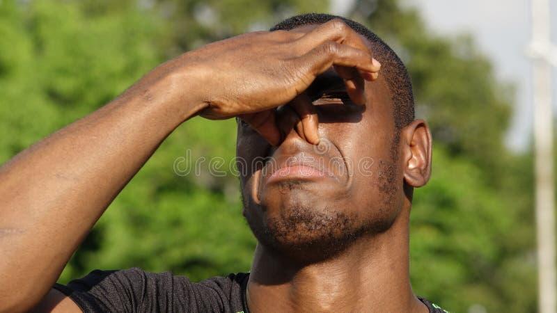 Stinky Atletische Afrikaanse Persoon stock fotografie