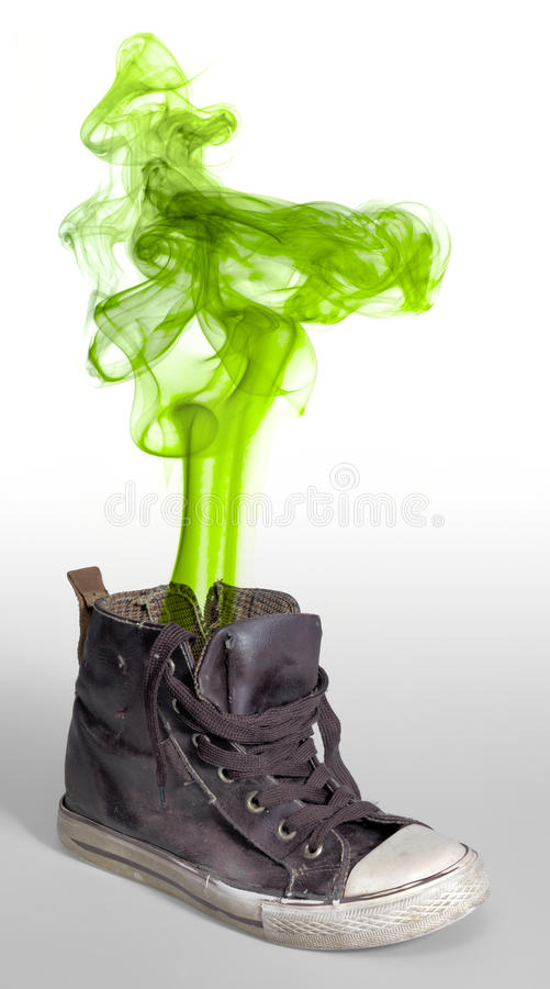 Stinky sneaker royalty free stock image