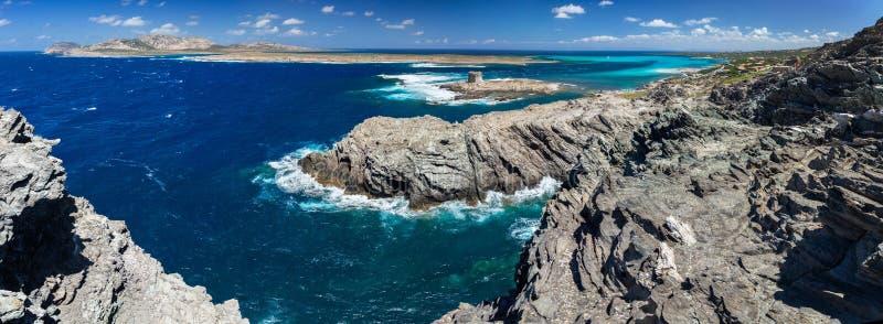 Stintino και νησί Asinara στοκ εικόνα με δικαίωμα ελεύθερης χρήσης