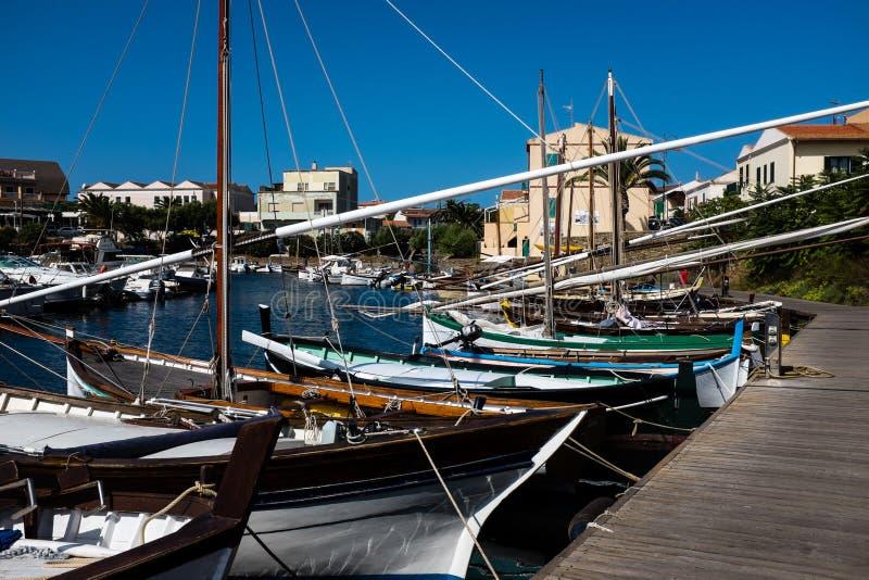 Stintino-Hausboote stockfotos