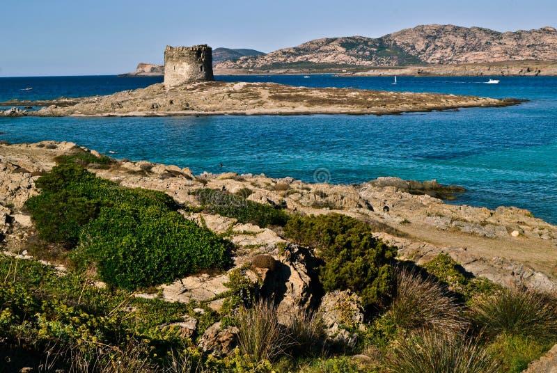 Stintinostrand in Sardinige royalty-vrije stock afbeelding