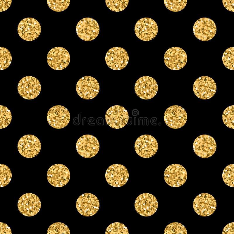 Stip GROTE gouden 1 zwarte royalty-vrije illustratie