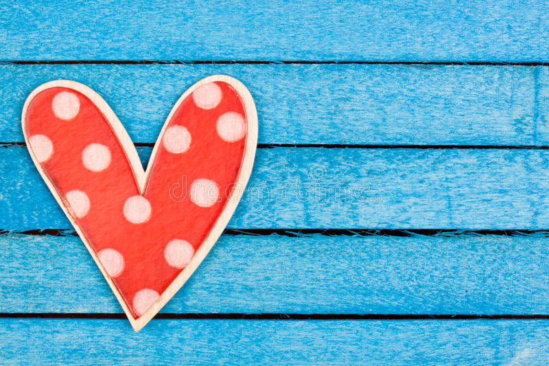 Stip houten hart stock foto's