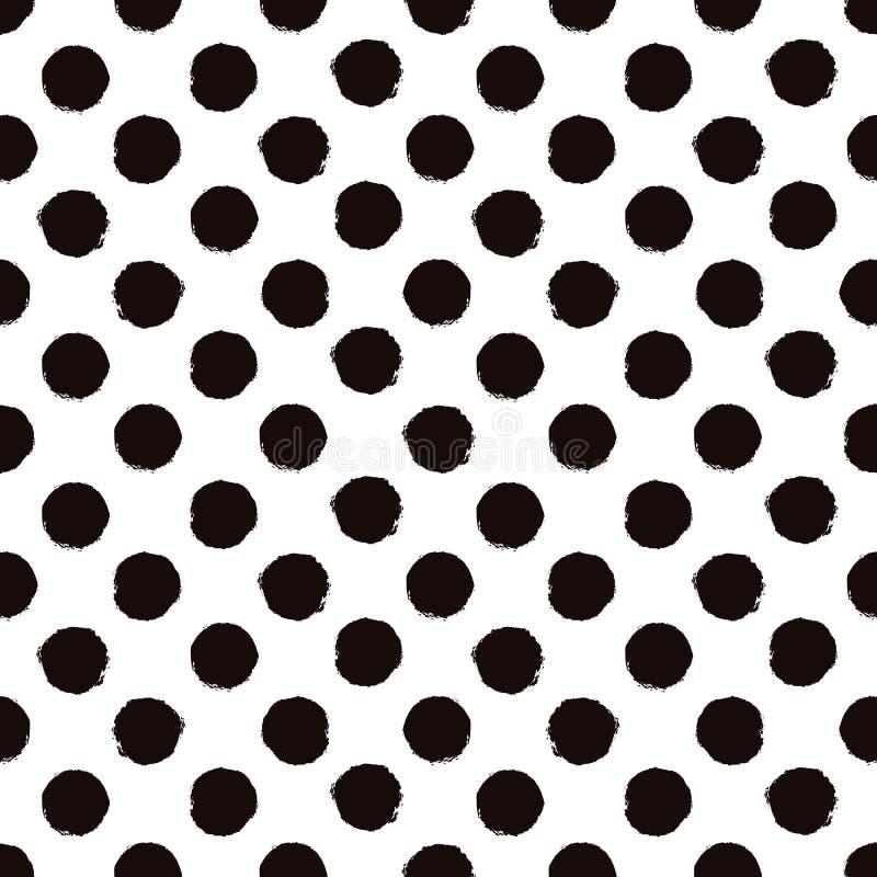 Stip zwart-wit geschilderd naadloos patroon royalty-vrije illustratie