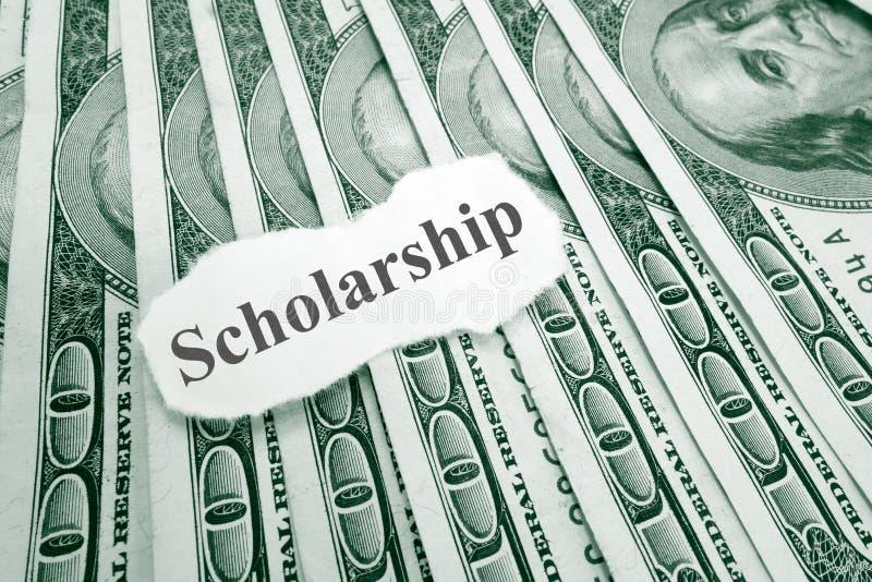 Stipendiumgeld lizenzfreies stockfoto