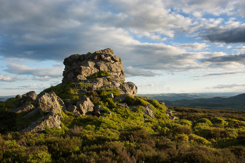 On the Stiperstones. An upland nature reserve in Shropshire, England royalty free stock photo