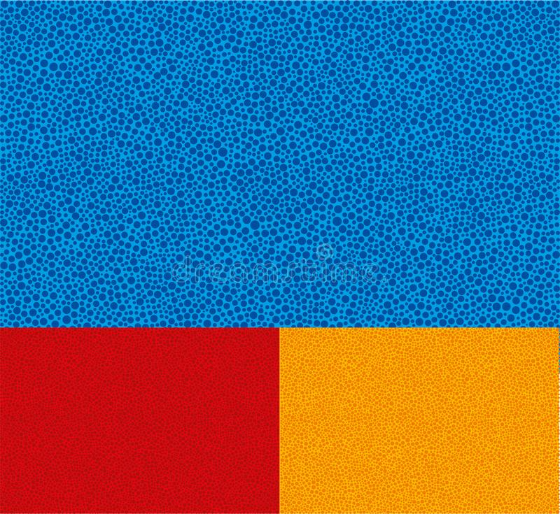 Stippelt bacground Sympletextuur Drie kleuren editable stock illustratie