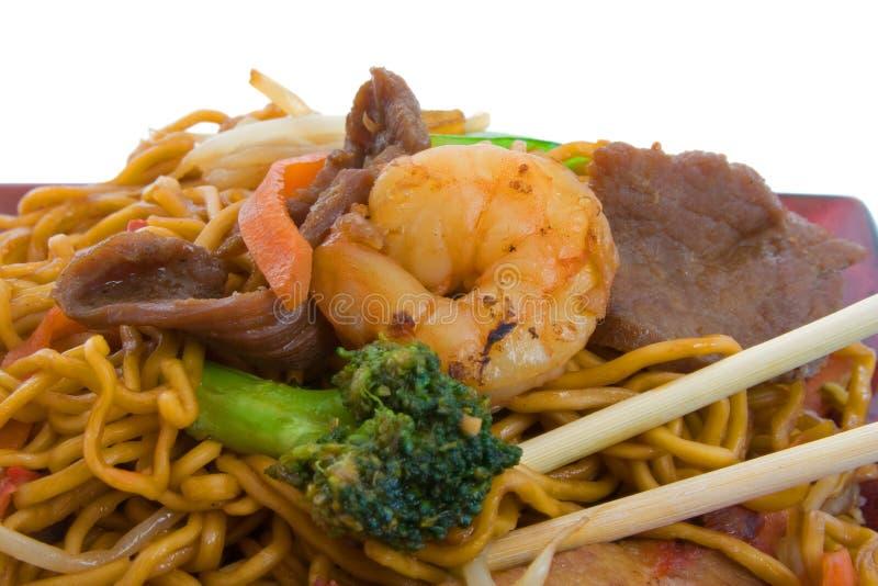 stir лапшей fry стоковая фотография rf