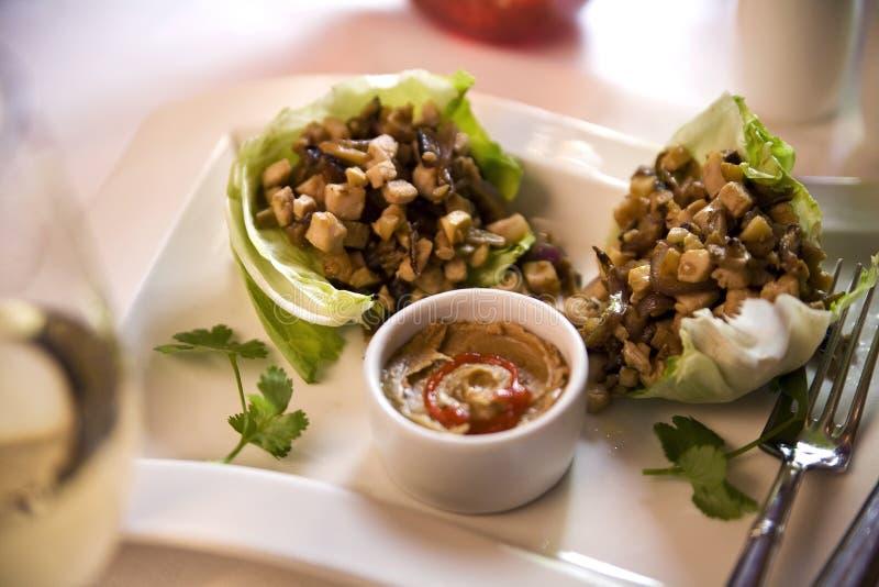 stir соуса арахиса fry пряный тайский стоковые изображения