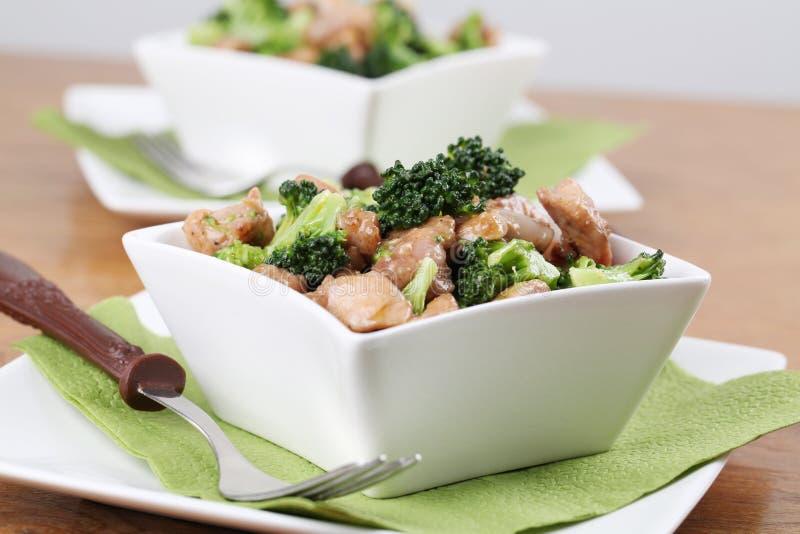 stir för broccolihönasmåfisk fotografering för bildbyråer