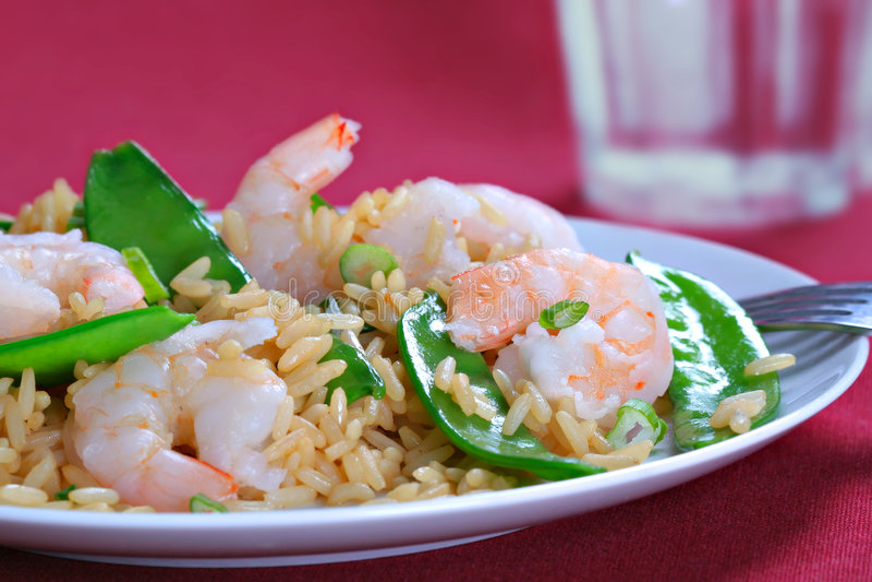 stir för räka för rice för småfiskärtafröskida royaltyfria bilder