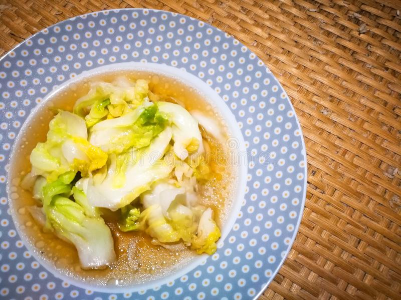 Stir Fired Cabbage with Fish Sauce stock fotografie
