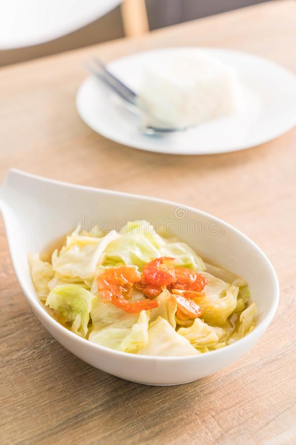 Stir fried Cabbage with Fish sauce royalty free stock images