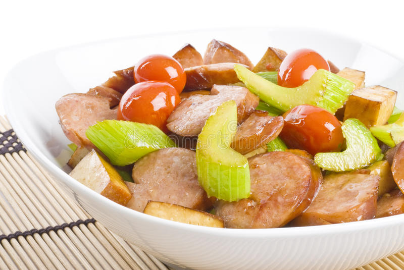 Stir-fried Meat and Vegetables royalty free stock photos